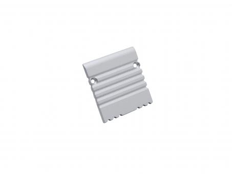Endkappe LED Alu U-Profil 35mm ohne Kabeldurchgang Alu