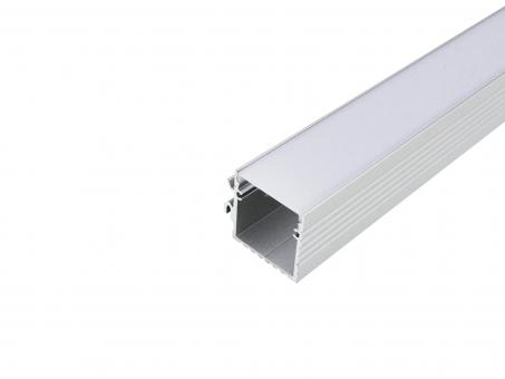 Alu U-Profil Wand Power Line 35 si mit Abdeck 1,0m transparent gr transparent | 1,0m | groß