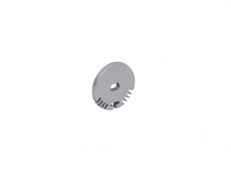 Endkappe Alu Rund-Profil mit Kabeldurchgang Aluminium