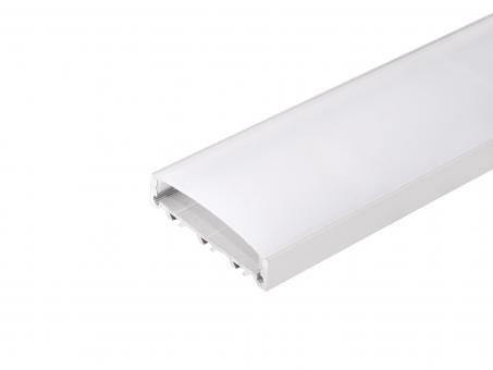 LED Alu U-Profil Triple silber mit Abdeckung 2,0m transparent transparent | 2,0m