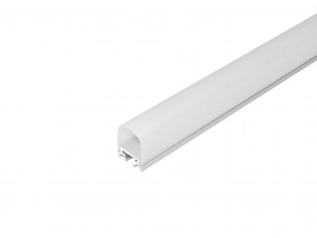 LED Alu U-Profil Square silber matt Abdeckung 180°