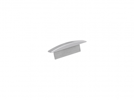 Endkappe LED Alu T-Profil Slim 7mm ohne Kabeldurchg Alu