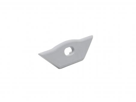 Endkappe Alu Profil abgeflachter Ecke Kabeldurchgang Kunststoff w weiß