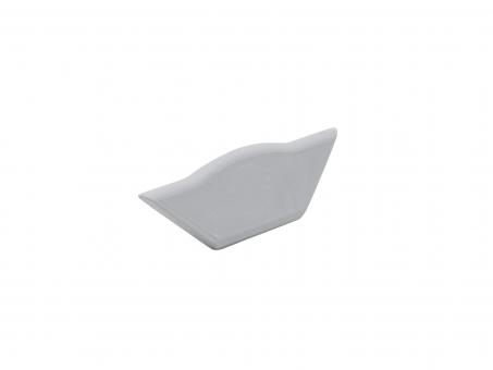 Endkappe Alu Profil abgeflachter Ecke ohne Kabeldurchg weiß weiß