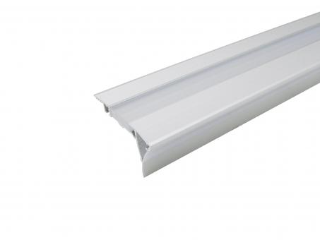 Alu Treppenstufenprofil Typ B2 silber mit Abdeckung 1,0m 1,0m