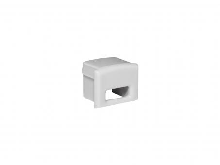 Endkappe für Alu Kühlprofil AL-PU6 Kunststoff mit Kabeldurchgang