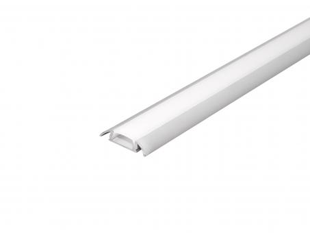 LED Profil Flachprofil AL-PU8 silber mit Abdeckung 2m