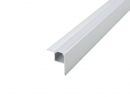 LED Profil für Deckeneinbau silber mit Abdeckung transparent 1,0m transparent | 1,0m