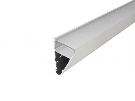 LED Alu Triangelprofil silber mit Abdeckung 2,0m opalweiß opalweiß | 2,0m