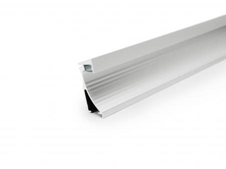 LED Alu Wandeinbauprofil silber mit Abdeckung 2,0m opalweiß opalweiß | 2,0m