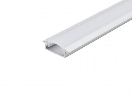 LED Alu T-Profil Slim XL8mm silber mit Abdeck