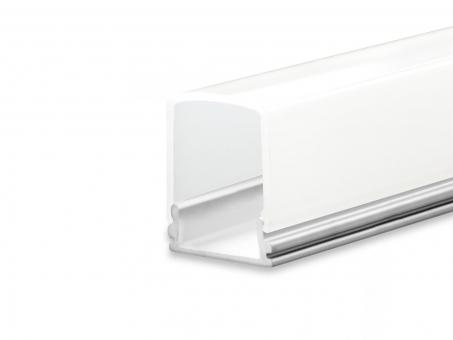 LED Profil AL-PU10 silber mit opalweißer Abdeckung hoch 2m
