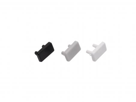 Endkappe LED Alu U-Profil AL-PU2 7mm Kunststoff