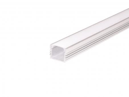 LED U-Profil AL-PU6 17mm mit Abdeckung 2,0m weiß transparent transparent | weiß
