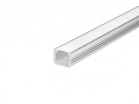LED U-Profil AL-PU6 17mm mit Abdeckung 2,0m silber transparent transparent | silber