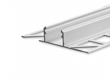 LED Alu Fliesenprofil AL-PU20 Lichtfuge silber 2,0m 2,0m