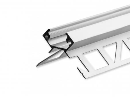 LED Alu Fliesenprofil AL-PU22 für Außenecken silber 2m