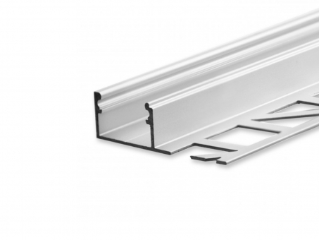 LED Alu Fliesenprofil AL-PU23 Abschluss silber 2m