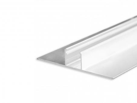 LED Alu Trockenbauprofil AL-PU41 Lichtlinie silber 2m
