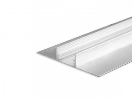 LED Alu Trockenbauprofil AL-PU43 Lichtlinie XL silber 2m