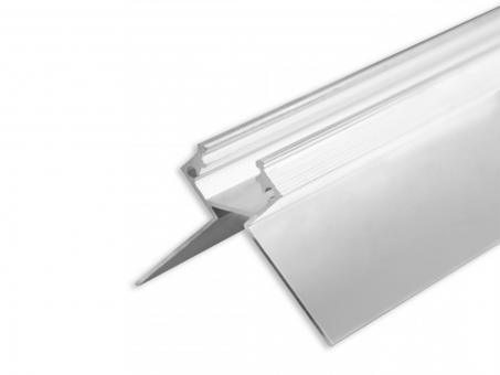 LED Alu Trockenbauprofil AL-PU45 Außeneck silber 2m