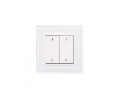 TRELIGHT LED Dimmer Funk Wandtaster 2-fach