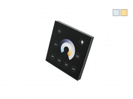 TRELIGHT Vega Dualweiß Funk Wandsteuerung schwarz *Sonderpreis* schwarz