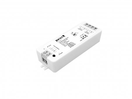 Lichtzwerg LED Dimmer Funk Empfänger Tastereingang 5-36Vdc 1x8A