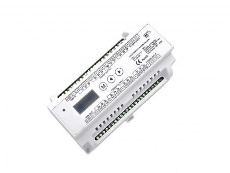 LED Dimmer RDM DMX512 12-24Vdc 24x3A Hutschiene