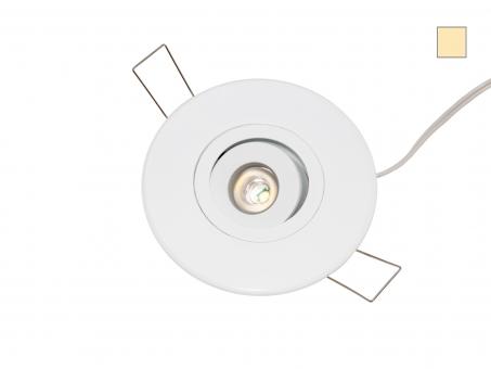 SET: LED Einbauleuchte inkl. Rahmen weiß Cursa 700mA warmweiß