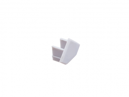 Endkappe LED Alu Hohlraumprofil 45-Grad, ohne Kabeldurchgang