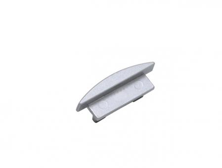 Endkappe LED Alu T-Profil Slim XL 8mm ohne Kabeldurchgang Alu