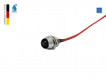 LED Schraube 12Vdc blau 5mm Chromgehäuse wasserdicht IP67