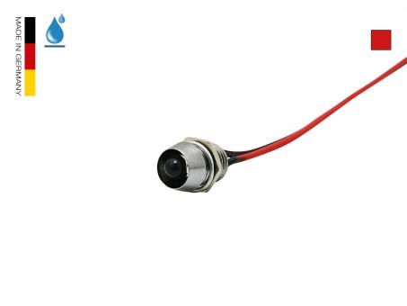 LED Schraube 12Vdc rot 5mm Chromgehäuse wasserdicht IP67