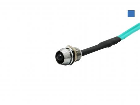 LED Schraube 12Vdc blau 3mm Chromgehäuse LED klar