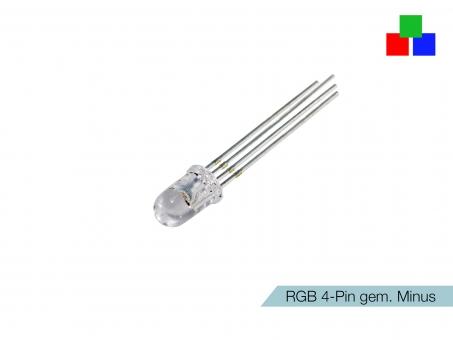 LED 5mm RGB-Rainbow klar 4-Pin gemeinsamer Minuspol