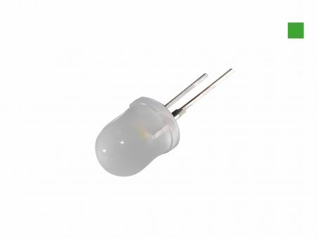 LED 10mm grün diffus 9 Lumen max. breiter Abstrahlwinkel