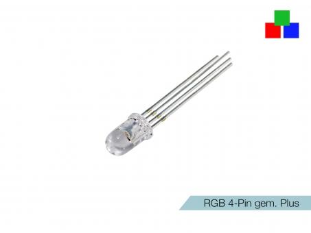 LED 5mm RGB klar 4-Pin gemeinsamer Pluspol
