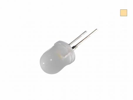 LED 10mm warmweiß diffus 8 Lumen max. breiter Abstrahlwinkel