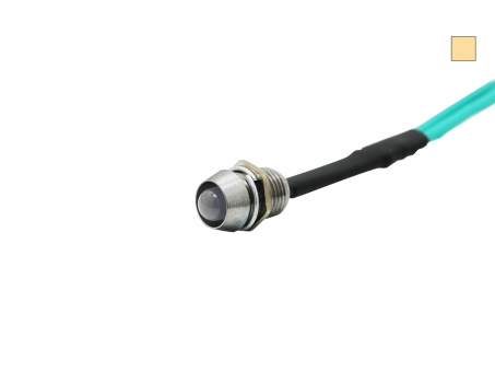 LED Schraube 12Vdc inkl. Chromgehäuse warmweiße 5mm LED DIFFUS