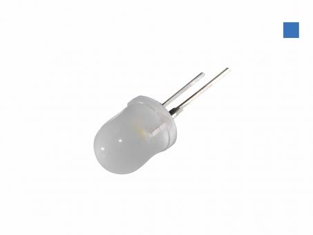 LED 10mm blau diffus 4 Lumen max. breiter Abstrahlwinkel