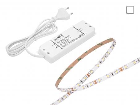 SET: LED Stripe 12Vdc 60LEDs/m neutralweiß + Netzteil 4,5m 4,5m
