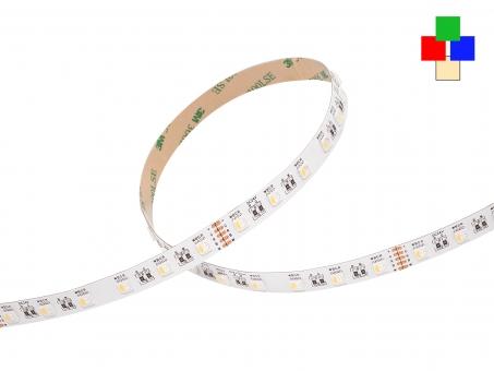 LED Stripe RGB-WW 24Vdc 19W/m 925lm/m 60LEDs/m 4-Kanal 1,0m 1,0m