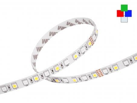 LED Stripe RGB-KW 24Vdc 14W/m 780lm/m 72LEDs/m 4-Kanal 5,0m 5,0m