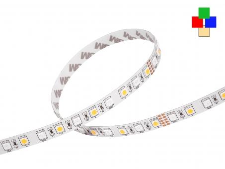 LED Stripe RGB-WW 24Vdc 14W/m 715lm/m 72LEDs/m 4-Kanal 1,0m 1,0m