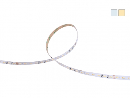 DUAL LED Stripe CCT 24Vdc 12W/m 850lm/m 120LEDs/m 15,0m