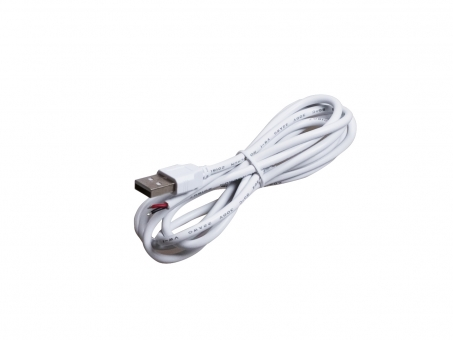 1,5m USB-Kabel weiß für 5Vdc LED Stripes