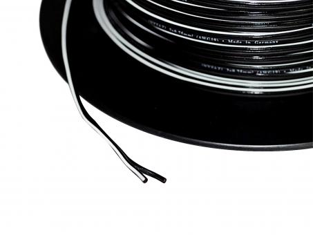 1m 2x0,75mm² Doppellitze / Leitung 2-adrig schwarz