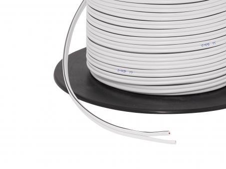 1m 2x 0,75mm² Doppellitze / Leitung 2-adrig weiß