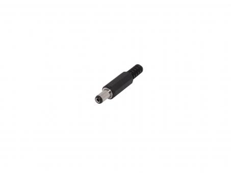 DC Stecker mit Knickschutz 5mm außen 2,1mm innen